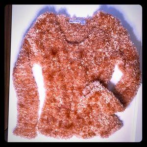 Plushy soft Scoop neck eyelash sweater